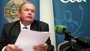 Uachtarán Liam Ó Néill spoke at the Central Council media briefing in Croke Park