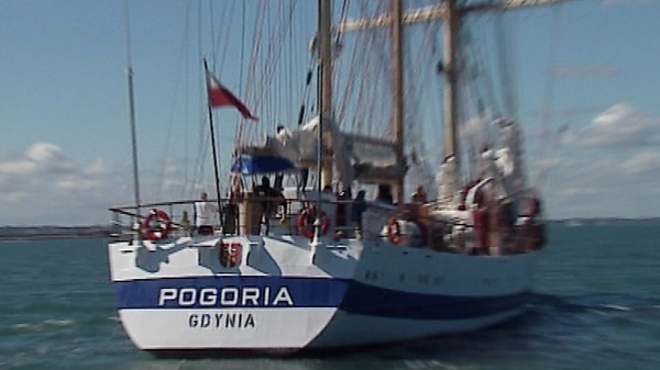 Pogoria is one of 40 ships taking part in the tall ship festival