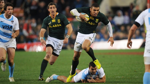 Bryan Habana helped South Africa to victory over Argentina