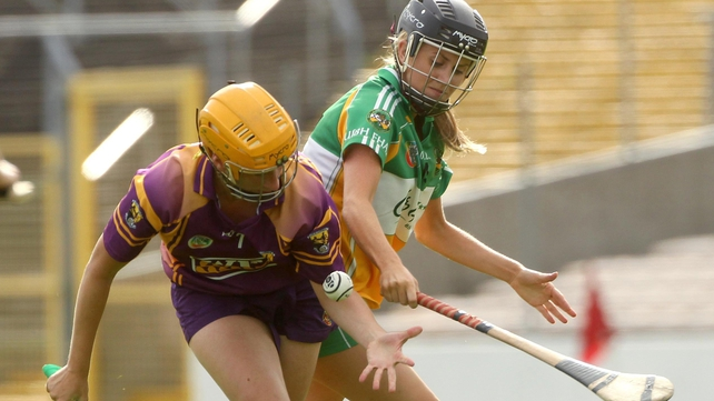 Wexford's Deirdre Codd and Sheila Sullivan of Offaly