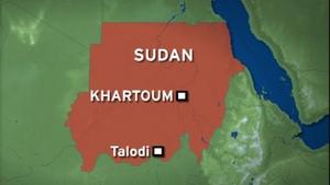 The plane crashed in the mountains around Talodi