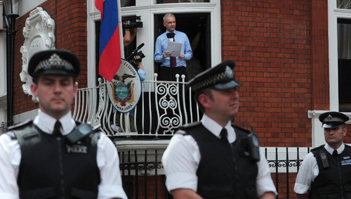 Julian Assange has been in the Ecuadorian embassy in London since 19 June last year