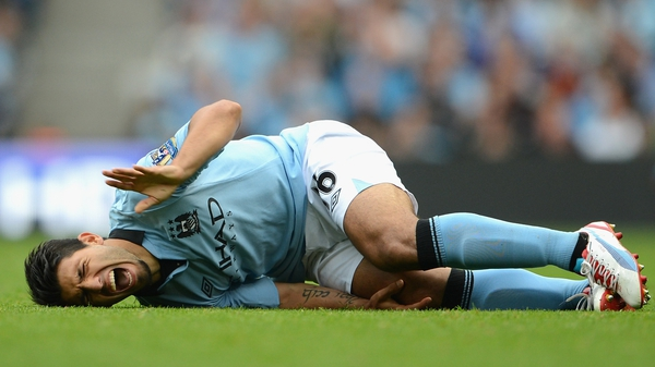 Star striker Sergio Aguero suffered a knee injury in the first game of the season