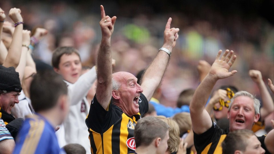 The Kilkenny fans had plenty to celebrate this afternoon