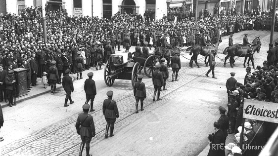 The funeral procession of Michael Collins.