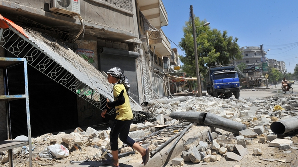 Activists say that Government forces have shelled the city of Aleppo