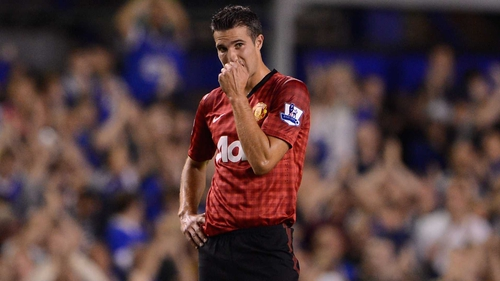 Robin van Persie came on as a substitute for Danny Welbeck