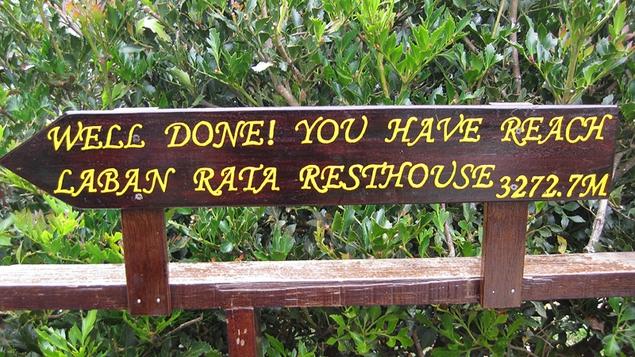 Laban Rata sign