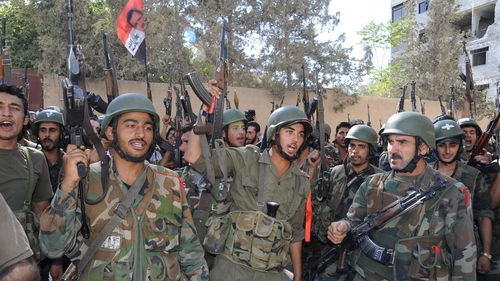 Iran has reportedly supplied the Syrian army with weapons