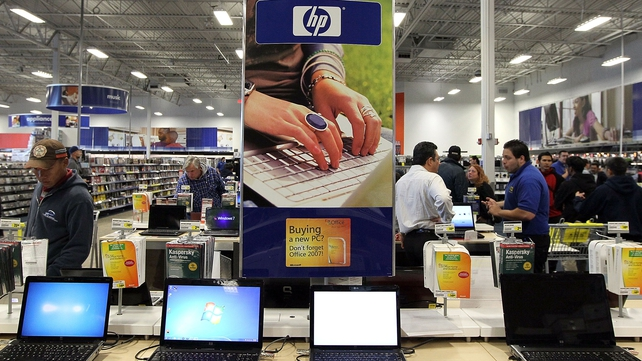 HP's revenue for its first fiscal quarter down 6% to $28.4 billion