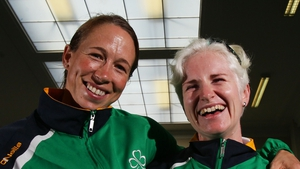 Pictured on left - Fran Meehan (pilot): track - 1km time trial, 4km individual pursuit, team sprint. Road - time trial, road race