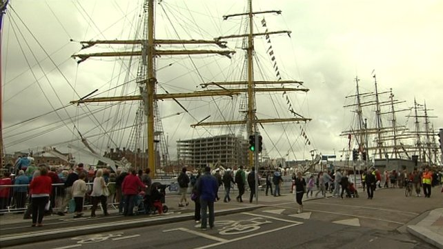 People have come from all over Ireland to see the ships
