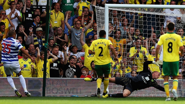 Bobby Zamora scores against Norwich