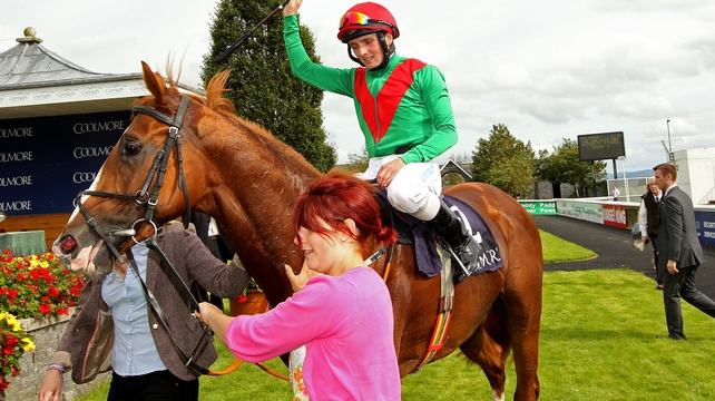 Winning jockey Chris Hayes abaord First Cornerstone