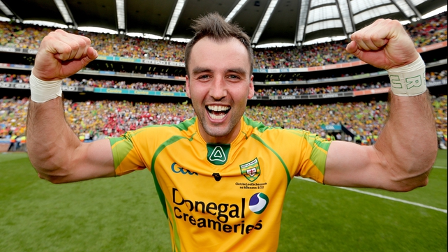Karl Lacey is one of three Donegal players on the shortlist for Player of the Year