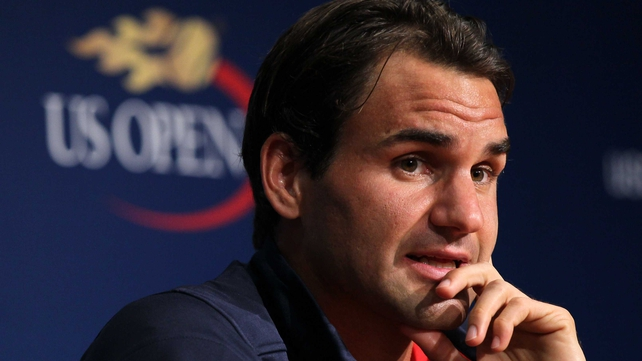 Roger Federer is in relaxed mood as he talks to media ahead of the US Open