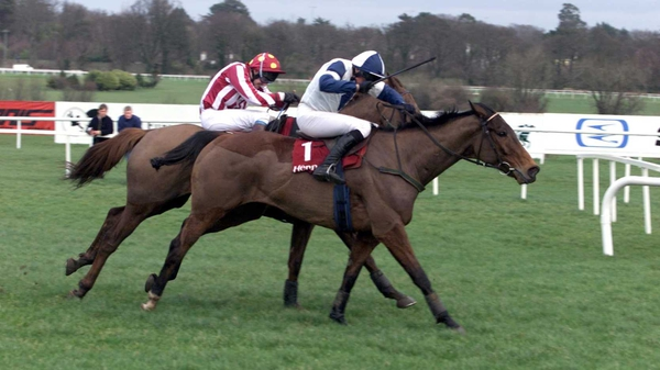 Victory in the 2002 Irish Hennessy, aboard Alexander Banquet (1), was one of the highlights of Geraghty's first 1000 Irish winners