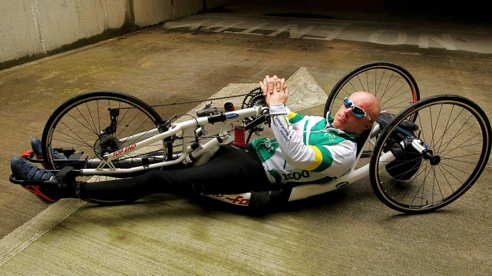 World handcycling champion Mark Rohan