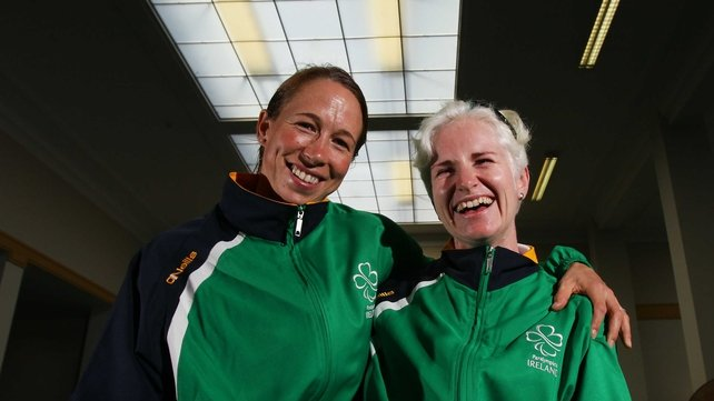 Fran Meehan (left) and Catherine Walsh have secured silver