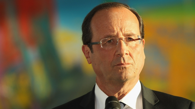 Francois Hollande makes first speech as French president to the European Parliament in Strasbourg today