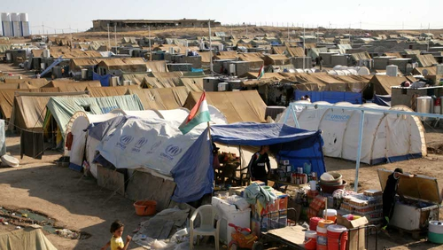 Domiz refugee camp, 20km southeast of Dohuk city, in northern Iraq