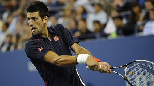 Novak Djokovic took just over an hour to dispatch Italy's Paolo Lorenzi in New York