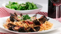 Linguine with Donegal Coast Mussels  - Fennel, Tomato & Flat Parsley, Donegal Rapeseed Oil