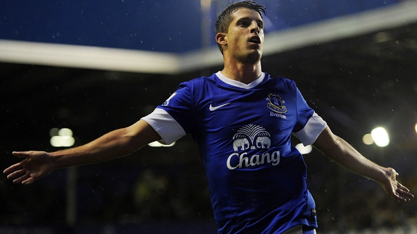 Kevin Mirallas celebrates his opening goal