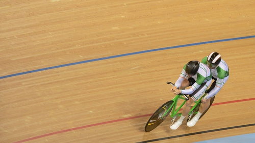 James Brown and Damien Shaw have finished fourth in the individual pursuit B