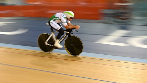 Colin Lynch claimed a silver medal at the Paracycling Track World Championships