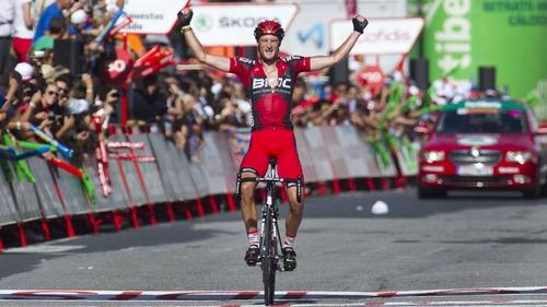 Steven Cummings crosses the line in Ferrol