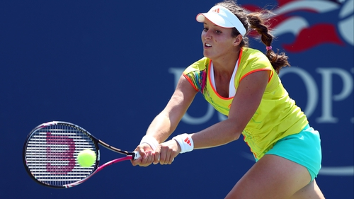 Laura Robson has advanced to the fourth round of a grand slam event for the first time