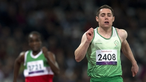 Jason Smyth made it three golds, when he broke the world record in the 100m T13 event, running 10.46