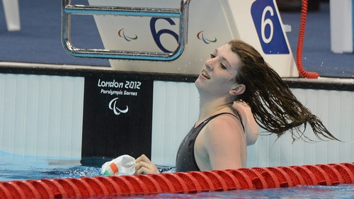 Bethany Firth won Ireland's first medal, a gold in the 100m backstroke S14