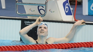 Just like lightweight boxing Olympic gold medallist Katie Taylor, Firth pointed to the heavens after her victory