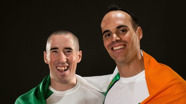 Shane Ryan (left) and Kevin du Toit (right) form the male half of Ireland's mixed coxed fours
