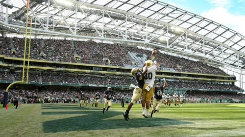The Aviva Stadium played host to Notre Dame and Navy this afternoon