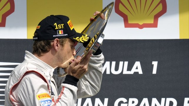 Jenson Button won the Belgian Grand Prix