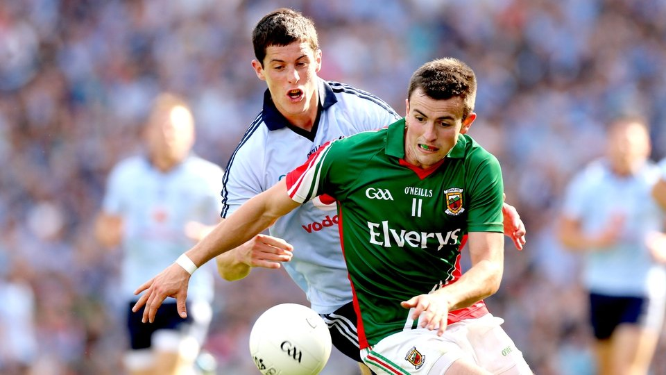 Mayo's Jason Doherty gets out in front of Rory O'Carroll