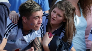 It was all too much for some Dublin fans as they saw their team relinquish the All-Ireland title