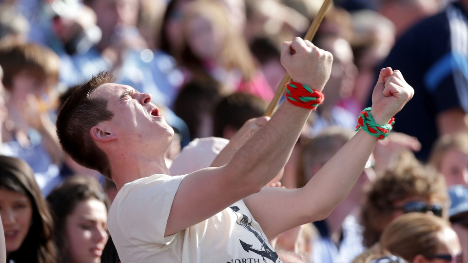 A Mayo fan celebrates a score