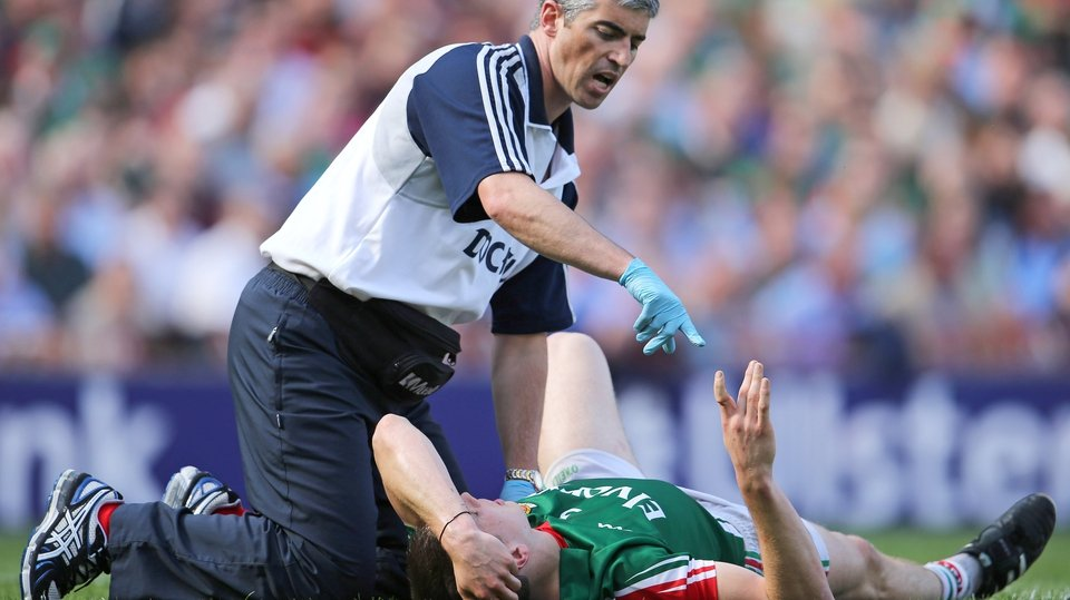 Mayo's Lee Keegan dislocated his index finger