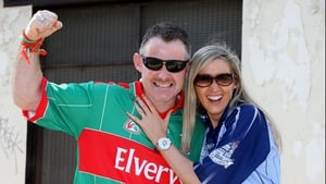 It was a family affair for Dublin supporter Lorraine Darby Gallagher and Mayo supporter Vincent Gallagher from Balbriggan