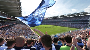 Dublin fans packed onto Hill 16 as over 81,000 patrons watched the game at Croke Park