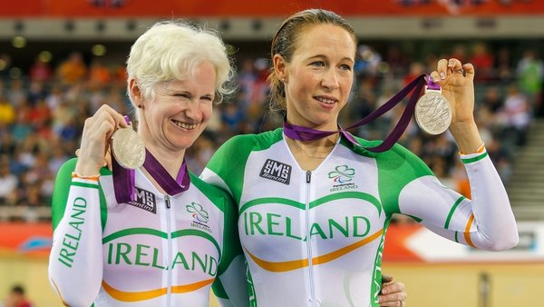 Catherine Walsh and Fran Meehan celebrate their success