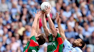 Jason Gibbons and Barry Moran rise above Craig Dias of Dublin