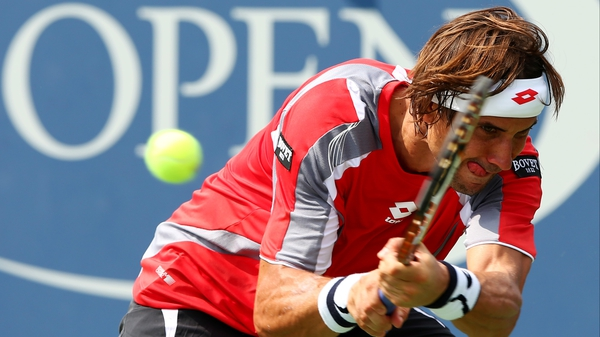 David Ferrer (above) took over three hours to dispose of Lleyton Hewitt