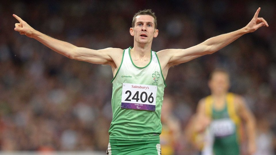 Michael McKillop made it four golds with victory in the 800m T37, also setting a new world record in the process. He clocked 1:57.22