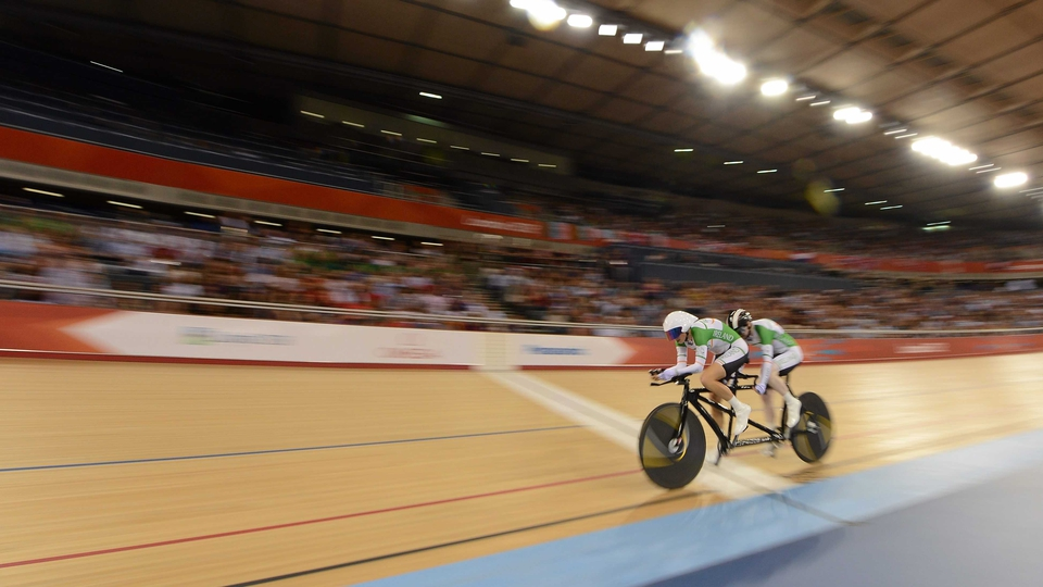 Catherine Walsh and sighted pilot Fran Meehan reached the para-cycling individual B pursuit final