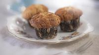 Crunchy peanut butter banana muffins - From Rachel's new series Rachel Allen: Cake Diaries